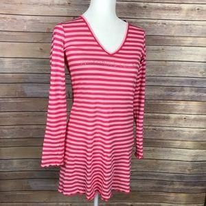 Victoria Secret Pink Stripe V Neck Nightgown